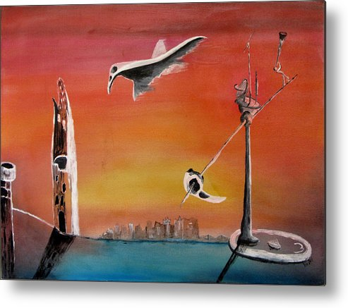 Uglydream Metal Print featuring the painting Uglydream911 by Helmut Rottler