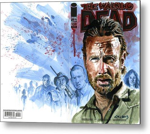 Walking Dead Metal Print featuring the painting Walking Dead by Ken Meyer jr