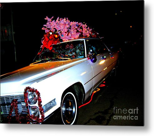 Christmas Metal Print featuring the photograph Christmas in the City by Nancy Dole McGuigan