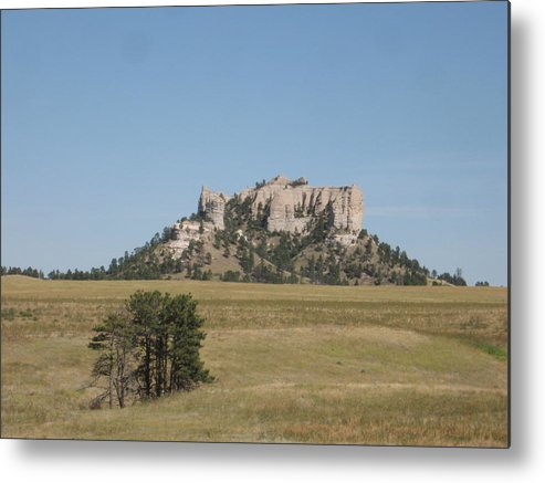 High Plains Metal Print featuring the photograph Crow Butte by J W Kelly