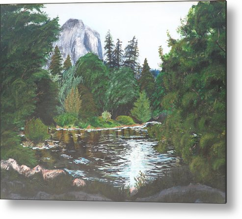 Yosemite Metal Print featuring the painting Frog's Eye View by Travis Day