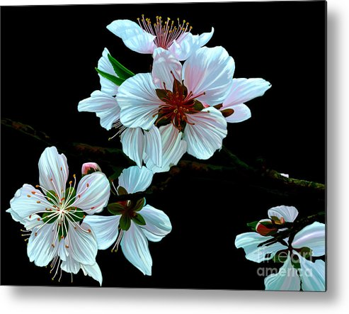 Fine Art Metal Print featuring the painting Just Peachy by Patricia Griffin Brett