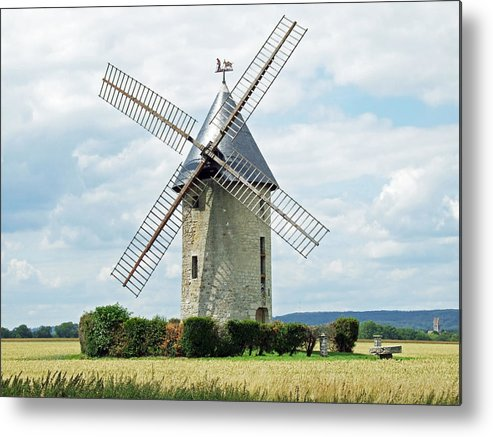Europe Metal Print featuring the photograph Largny Mill Largny sur Automne France by Joseph Hendrix