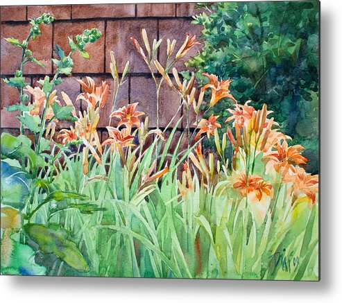 Metal Print featuring the painting Oxenden Lilies by Peter Sit