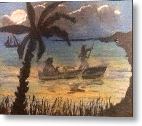 Pirate Metal Print featuring the painting Pirates Trust by Richard Hubal
