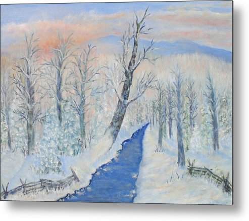 Winter Metal Print featuring the painting Winter Sunrise by Ben Kiger