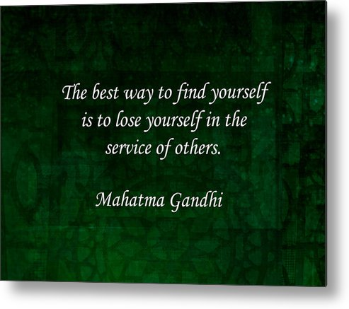 Gandhi Inspirational Quote About Self-help by Quintus Wolf