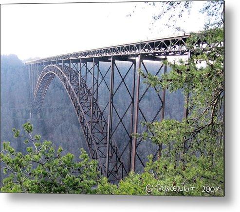 New River Gorge Bridge Metal Print featuring the photograph New River Gorge Bridge by Carolyn Postelwait