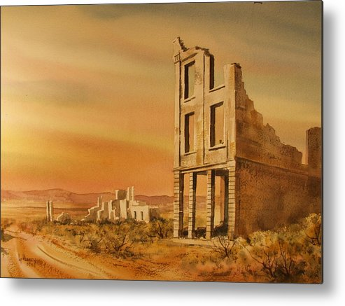 Historic Metal Print featuring the painting Rhyolite Nevada by Kevin Heaney