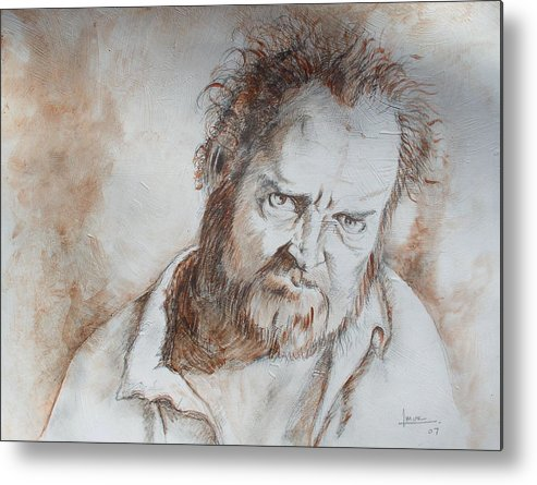 Portrait Metal Print featuring the drawing Untitled 1 by Victor Amor