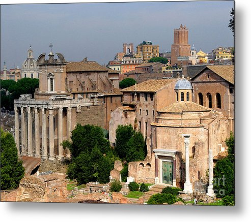 Rome Metal Print featuring the photograph Visions of Rome by Nancy Bradley