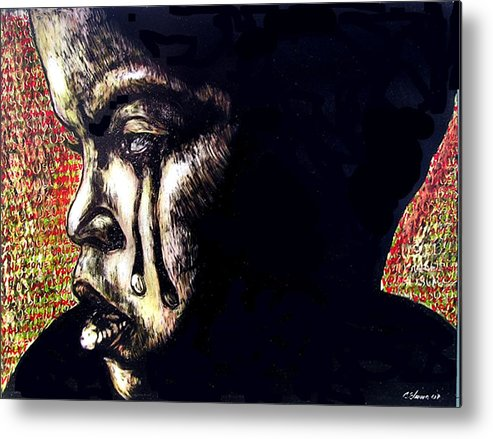 Metal Print featuring the mixed media 1140 by Chester Elmore