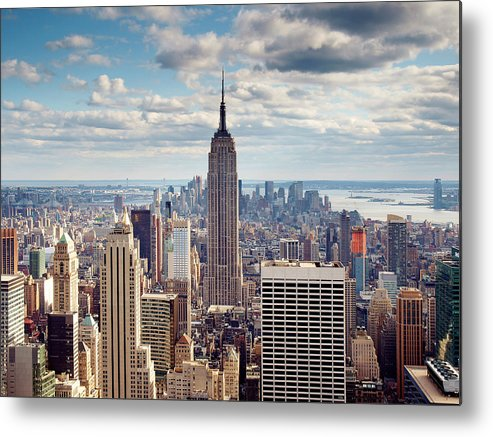 Ny Metal Print featuring the photograph NYC Empire by Nina Papiorek