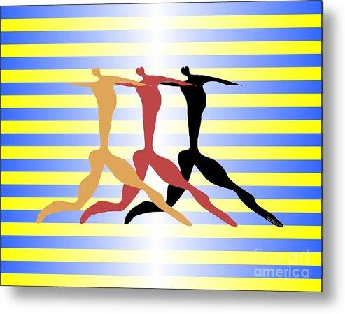 Dance Metal Print featuring the digital art 3 Dancers by Walter Neal
