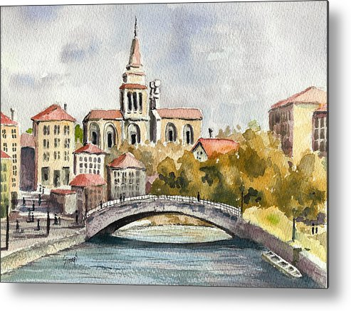 River Metal Print featuring the painting A German Memory by Sam Sidders