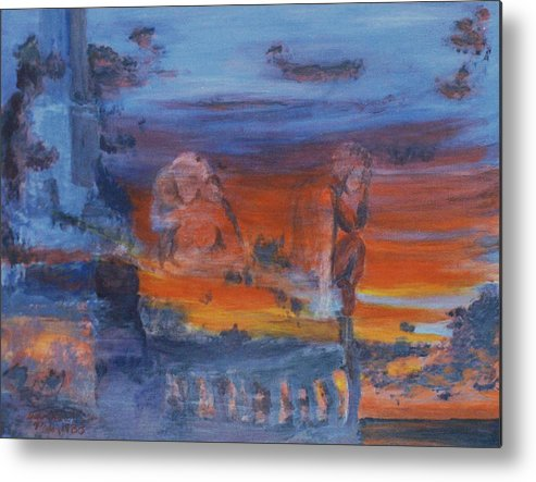 Abstract Metal Print featuring the painting A Mystery Of Gods by Steve Karol