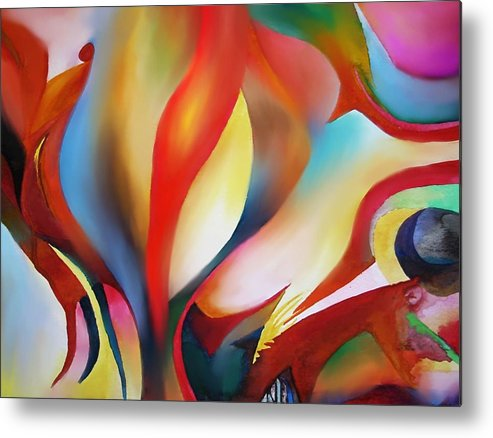 Angels Metal Print featuring the painting Abstract Beings by Peter Shor
