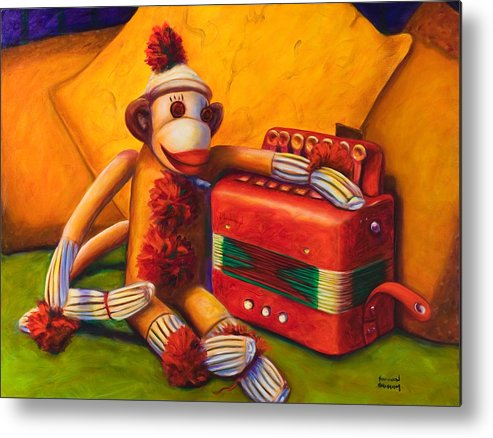 Children Metal Print featuring the painting Accordion by Shannon Grissom