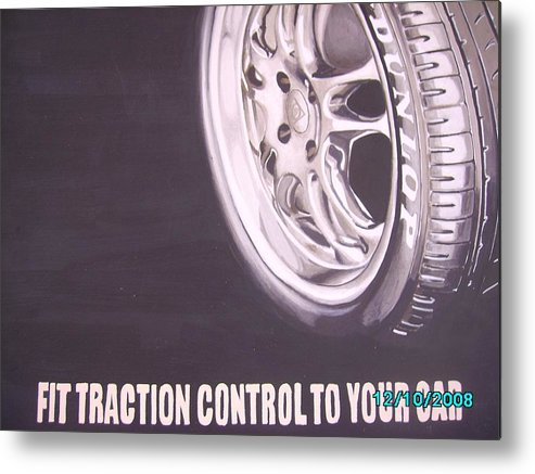 Wheel Metal Print featuring the digital art Adverts On Tyres by Olaoluwa Smith