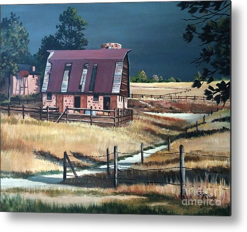 Scene Metal Print featuring the painting After The Storm by Suzanne Schaefer