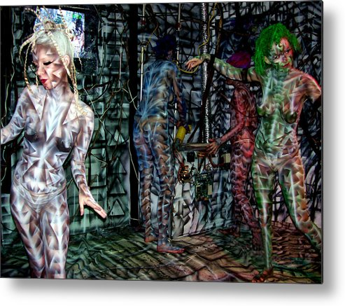 Paintings Metal Print featuring the painting Amy Robot by Leigh Odom