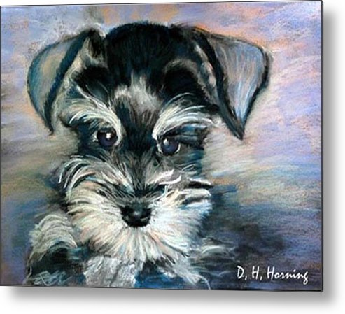Portrait Metal Print featuring the painting Annabelle by David Horning