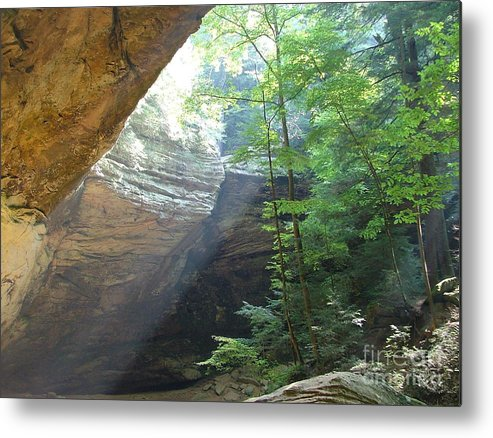 Photograph Metal Print featuring the photograph Ash Cave by Mindy Newman