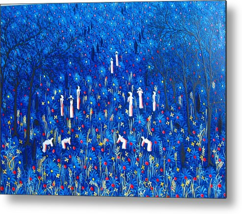 Metal Print featuring the painting Azul by Frantz Petion