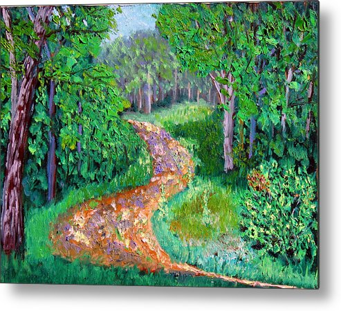 Original Oil On Canvas Metal Print featuring the painting Bcsp 7-7 by Stan Hamilton