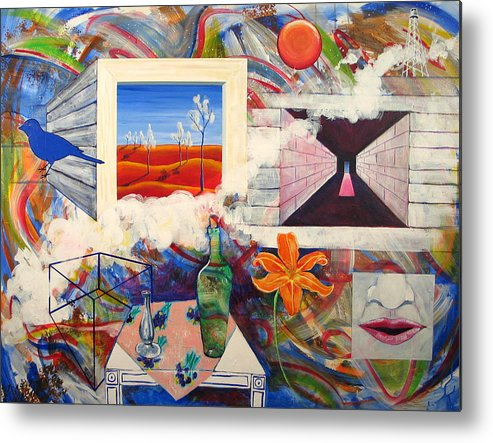 Landscape Metal Print featuring the painting Be Here Now by Rollin Kocsis