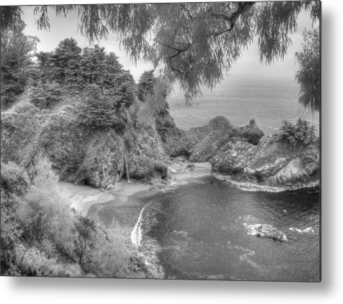 Big Sur Metal Print featuring the photograph Big Sur Path Beach Walkway by Jane Linders