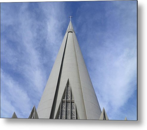 Cathedral Metal Print featuring the photograph Cathedral Minor Basilica Our Lady of Glory by Bruna Lima