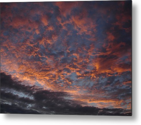 Landscape Metal Print featuring the photograph Chemical Sky by Chad Natti