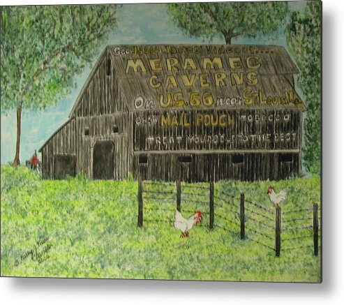 Chew Mail Pouch Metal Print featuring the painting Chew Mail Pouch Barn by Kathy Marrs Chandler