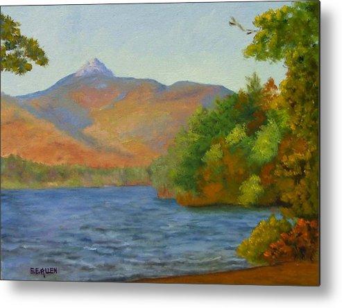 Mount Chocorua And Chocorua Lake Metal Print featuring the painting Chocorua by Sharon E Allen