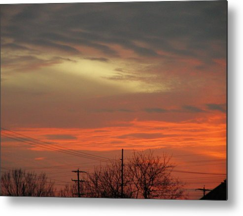 Landscape Metal Print featuring the photograph City Light by Peter McIntosh