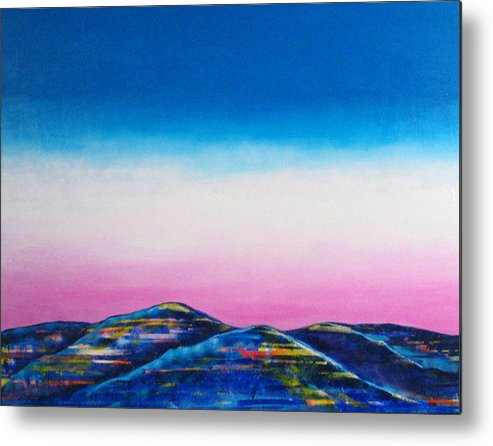 Sky Metal Print featuring the painting Clear Day by Rollin Kocsis