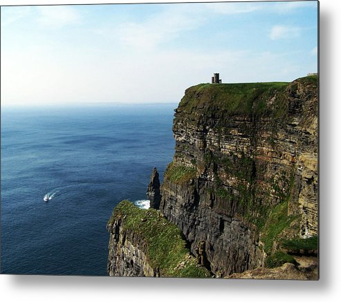 Irish Metal Print featuring the photograph Cliffs of Moher Ireland by Teresa Mucha