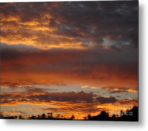 Sunset Metal Print featuring the photograph Coco Sky by Chad Natti