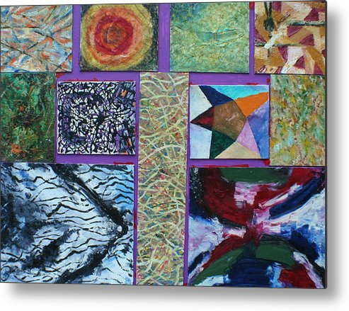 Abstract Images Collage Metal Print featuring the painting Collage with clown by Biagio Civale