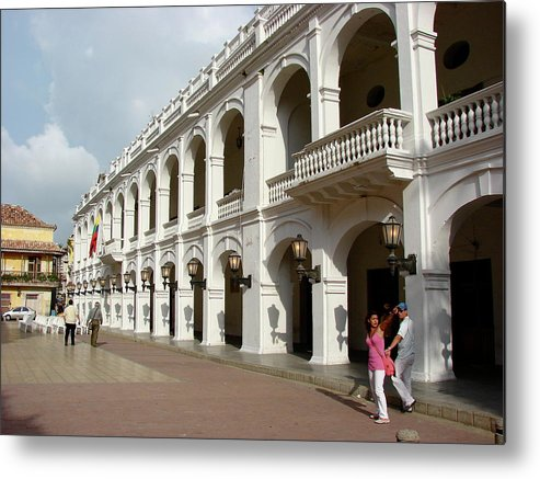 Colombia Metal Print featuring the photograph Colombia Courtyard by Brett Winn