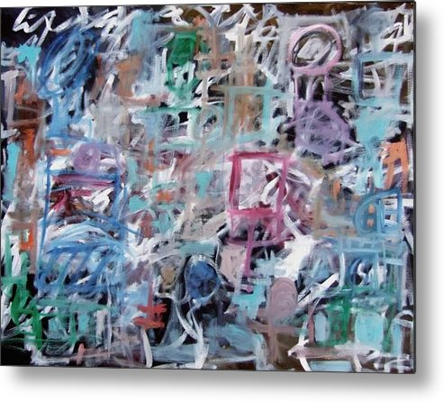 Abstract Metal Print featuring the painting Composition No. 1 by Michael Henderson