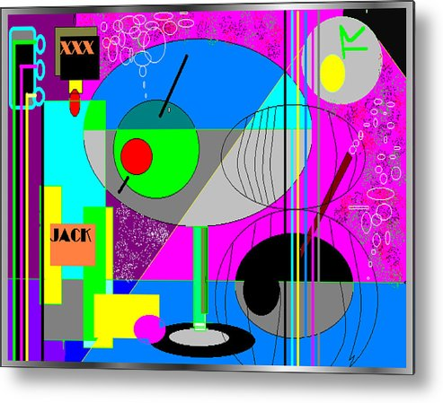 Music Metal Print featuring the digital art Cubic1 by George Pasini