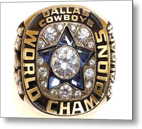 Dallas Cowboys Metal Print featuring the digital art Dallas Cowboys First Super Bowl Ring by Paul Van Scott