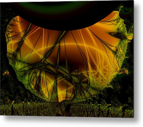 Abstract Metal Print featuring the digital art Dark Woods by Frederic Durville