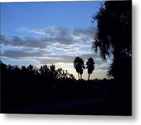 Sunrise-sunset Photograph Metal Print featuring the photograph Daybreak in Florida by Frederic Kohli