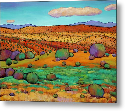 New Mexico Desert Metal Print featuring the painting Desert Day by Johnathan Harris
