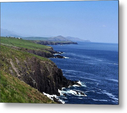 Irish Metal Print featuring the photograph Dingle Coast Near Fahan Ireland by Teresa Mucha