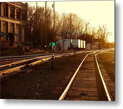 Landscape Metal Print featuring the photograph Down the Right Track by Steve Karol