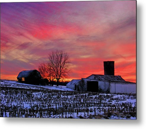 Rural Metal Print featuring the photograph Down the Street from Daranya's House by Steve Karol